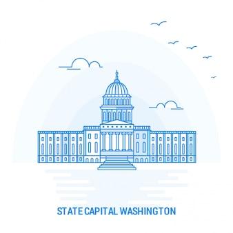 Stato capitale washington blue landmark
