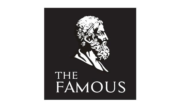 Statua del filosofo volto / testa