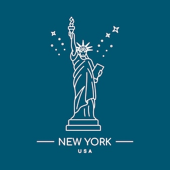 Statua della libertà. linea artistica.