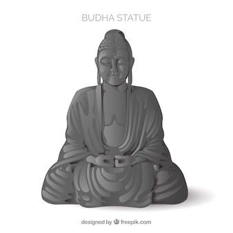 Statua di budha con stile realistico