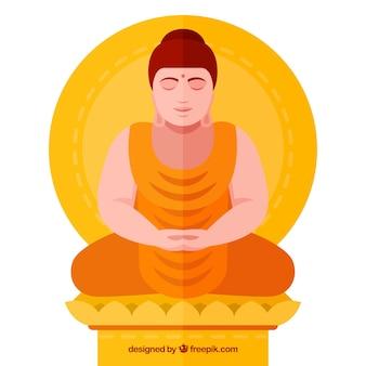 Statua di sfondo di buddha
