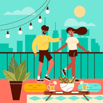 Staycation su una terrazza panoramica