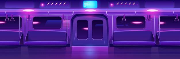 Stazione della metropolitana, piattaforma della metropolitana vuota, metropolitana