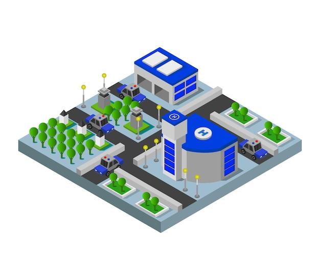 Stazione di polizia isometrica