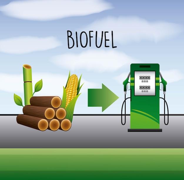 Stazione di pompaggio di biocarburante e canna di etanolo di mais