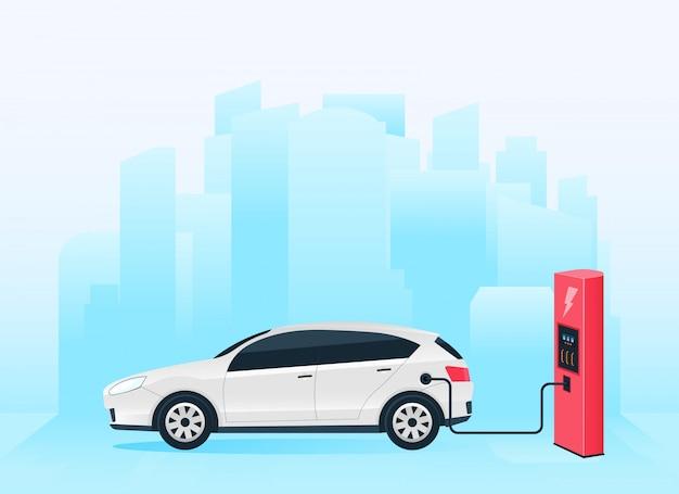 Stazione di ricarica elettrica auto futura, e-motion.