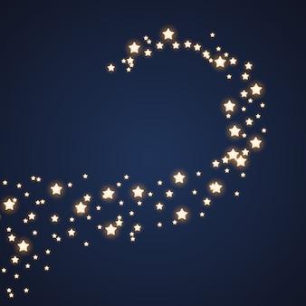 Stella cadente, linea di cometa sullo sfondo del cielo notturno