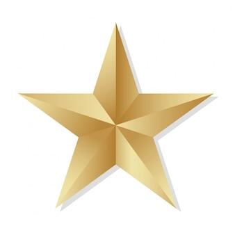 Stella d'oro 3d vettoriale.