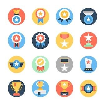 Stelle arrotondate icone arrotondate piatte