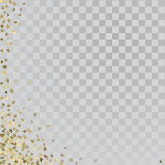 Stelle d'oro 3d su sfondo trasparente