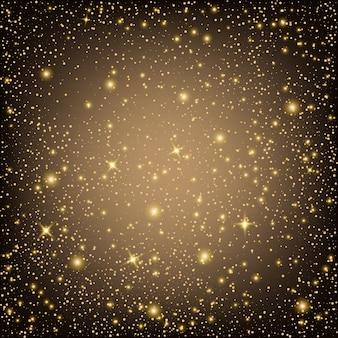 Stelle di effetto di luce incandescente scoppia con sfondo di scintillii