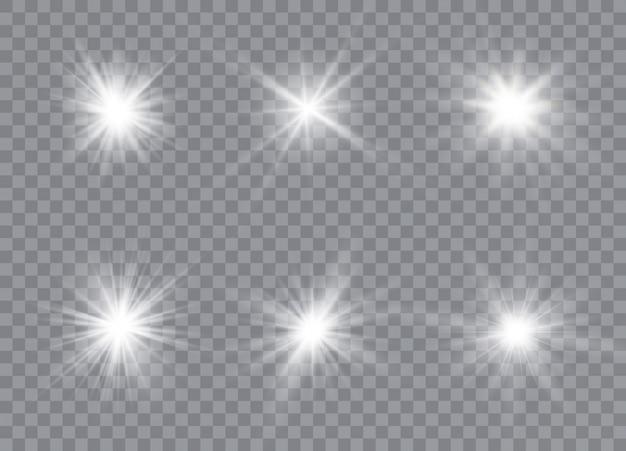 Stelle effetto bagliore di luce