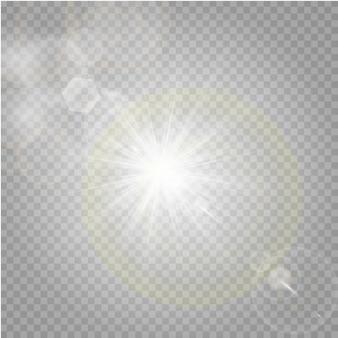 Stelle su uno sfondo bianco e grigio trasparente su una scacchiera.