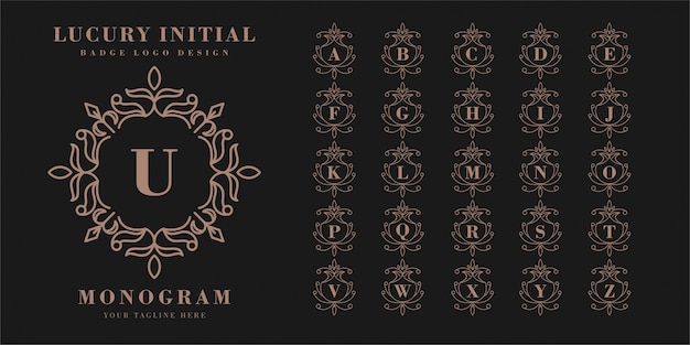 Stemma iniziale lucury con logo monogramma