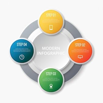 Step infografico moderno