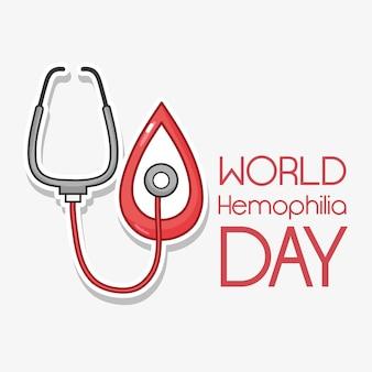 Stetoscopio con design goccia di sangue rosso
