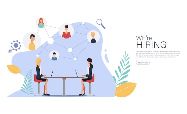 Stiamo assumendo e reclutamento online per la pagina di destinazione.