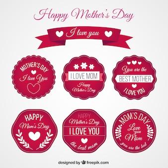 Sticker collection festa della red happy mother
