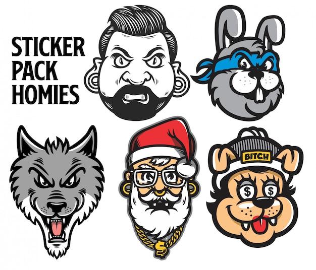 Sticker pack personaggio