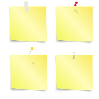 Sticky notes - insieme di note adesive gialle