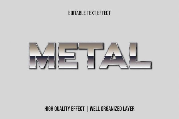 Stile 3d effetto testo in metallo argento