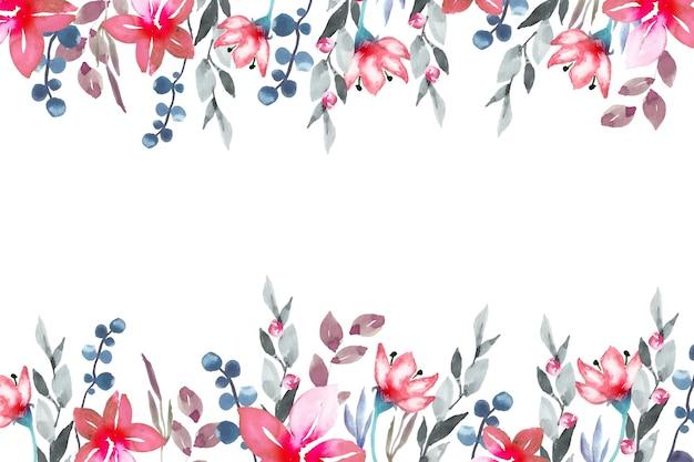 Stile acquerello colorato carta da parati floreale