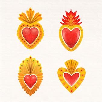 Stile acquerello cuore sacro