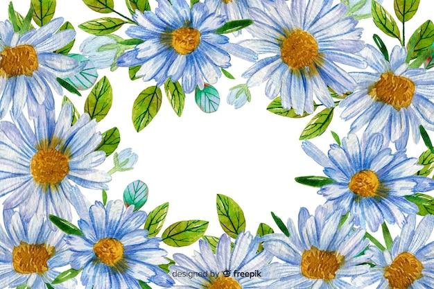 Stile acquerello decorativo margherite sfondo