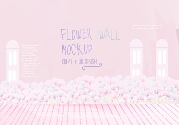 Stile acquerello mockup di fiori vintage.
