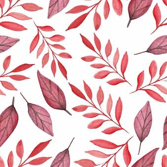 Stile acquerello senza cuciture foglia d'autunno