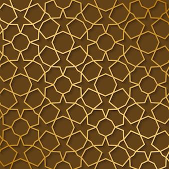 Stile arabo modello oro. fondo decorativo geometrico orientale tradizionale arabo.