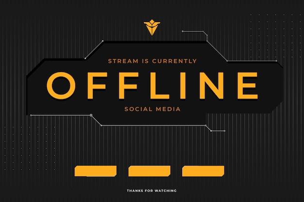 Stile astratto banner twitch offline