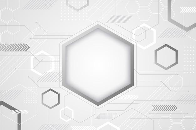 Stile bianco dell'estratto del fondo di tecnologia