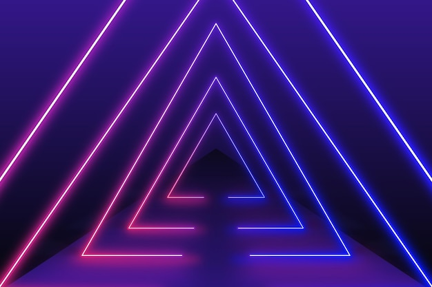 Stile carta da parati luci al neon
