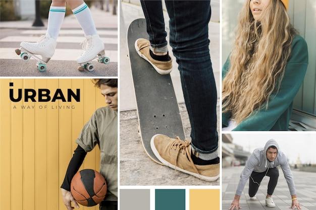 Stile collage fotografico