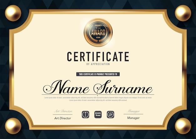Stile del certificato e stile del diploma ,.