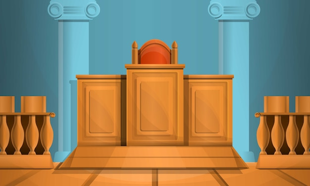 Stile del fumetto dell'illustrazione del tribunale