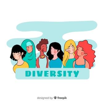 Stile del fumetto di sfondo persone diverse
