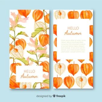Stile dell'acquerello del modello banner autunno