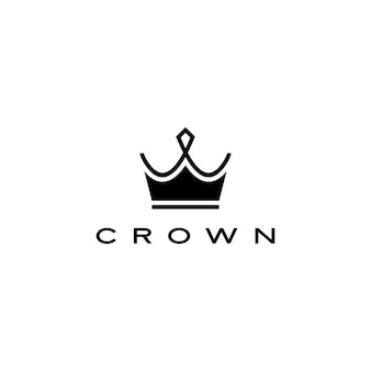 Stile delle bande della linea dell'illustrazione dell'icona di logo della corona