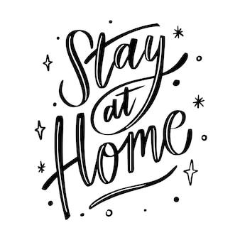 Stile delle lettere, resto a casa