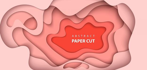 Stile di arte di carta astratta 3d, layout di progettazione