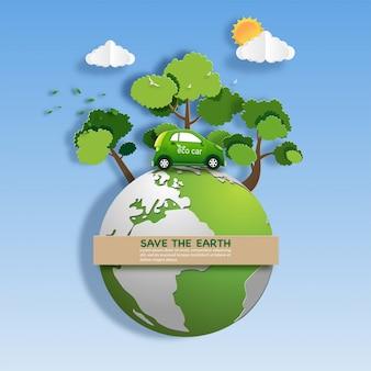 Stile di arte di carta di auto ecologica