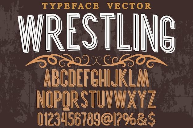 Stile di battaglia di alfabeto grafico tipografia