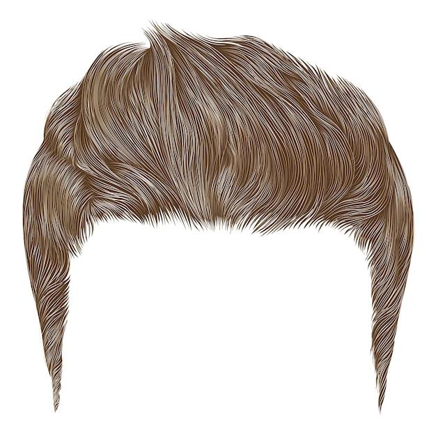 Stile di capelli alto uomo alla moda.