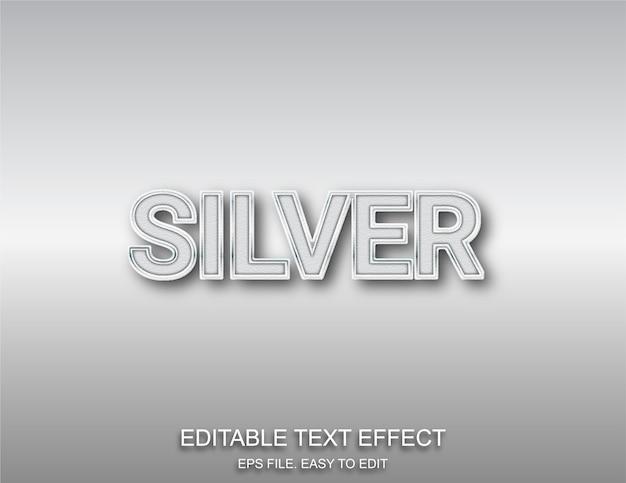 Stile di carattere modificabile effetto testo argento
