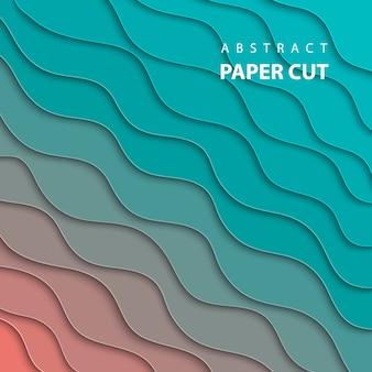 Stile di carta astratto 3d, layout di progettazione