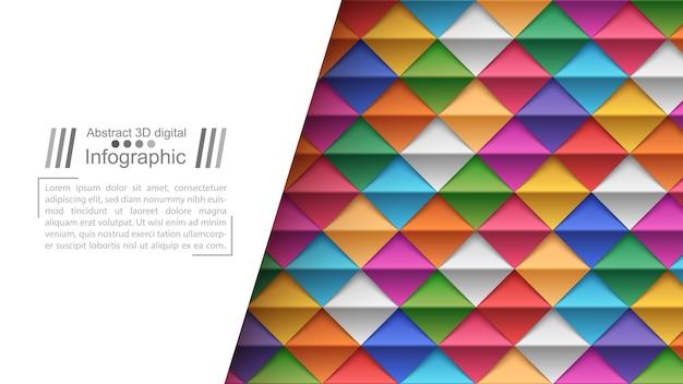 Stile di carta origami - sfondo di carta con modello di blocco di testo