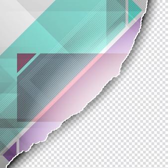Stile di carta strappato sfondo poligonale