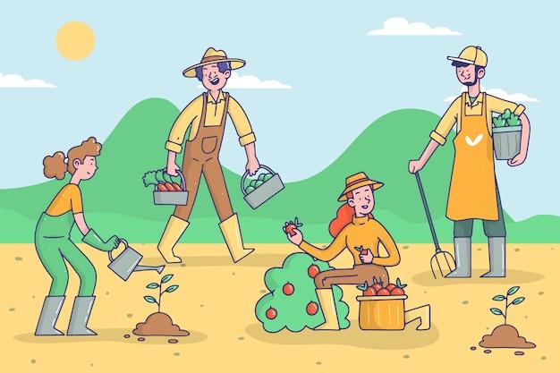 Stile di concetto di agricoltura biologica